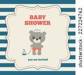 baby shower invitation ... | Shutterstock .eps vector #227224762