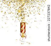 Party Popper With Gold Confetti