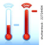 thermometer graphic showing... | Shutterstock .eps vector #22724404