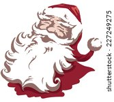 vintage style father christmas  ... | Shutterstock .eps vector #227249275