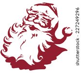 vintage style father christmas  ... | Shutterstock .eps vector #227249296