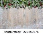 christmas background with fir...   Shutterstock . vector #227250676
