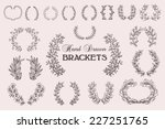 the set of hand drawn vector... | Shutterstock .eps vector #227251765