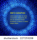 dark blue light abstract... | Shutterstock .eps vector #227253208