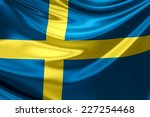 flag of sweden. | Shutterstock . vector #227254468