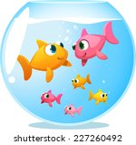 goldfish happy family  with... | Shutterstock .eps vector #227260492