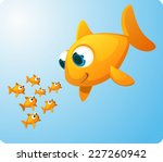 group of goldfish looking... | Shutterstock .eps vector #227260942