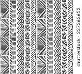 seamless geometric doodle... | Shutterstock .eps vector #227262652