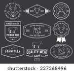 vector quality beef badges and... | Shutterstock .eps vector #227268496