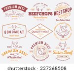 vector quality beef badges and... | Shutterstock .eps vector #227268508