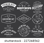 vector quality beef badges and... | Shutterstock .eps vector #227268562
