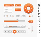 orange light user interface... | Shutterstock .eps vector #227282632