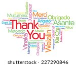 colorful thank you word cloud... | Shutterstock .eps vector #227290846