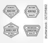 set of retro monochrome... | Shutterstock .eps vector #227295802