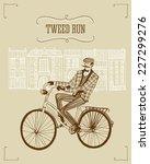 retro hand drawn gentleman with ... | Shutterstock .eps vector #227299276