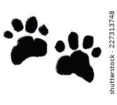 paw print. vector illustration | Shutterstock .eps vector #227313748