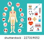 vector anatomy flat icon set | Shutterstock .eps vector #227319052