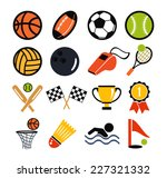 vector color flat vector set of ... | Shutterstock .eps vector #227321332