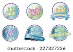 collection of vector color... | Shutterstock .eps vector #227327236