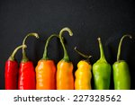 many vibrant colors on peppers... | Shutterstock . vector #227328562