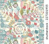 elegant pattern with flowers... | Shutterstock . vector #227331955