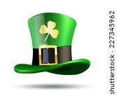 green hat with golden clover... | Shutterstock .eps vector #227345962