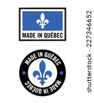 vector 'made in quebec' logo... | Shutterstock .eps vector #227346652