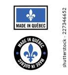 vector 'made in quebec' logo... | Shutterstock .eps vector #227346652