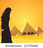 cairo and woman | Shutterstock .eps vector #22735600