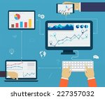 business infographics by using... | Shutterstock .eps vector #227357032