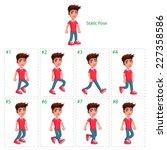 animation of boy walking   Shutterstock .eps vector #227358586