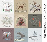 set of vintage hunting labels... | Shutterstock .eps vector #227364562