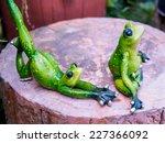 Frog Figurine As Yoga Pose...