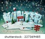 Festive Illustration Of Snowy...
