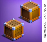 wooden boxes. vector...