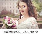 Beautiful Bride  Holding...