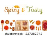 spicy and tasty  spices and... | Shutterstock . vector #227382742