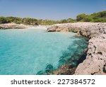 talaier beach in menorca  spain ... | Shutterstock . vector #227384572