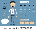 ready to animation parts of... | Shutterstock .eps vector #227385238