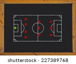 football field with 4 3 3... | Shutterstock . vector #227389768