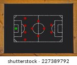 football field with 4 4 2... | Shutterstock . vector #227389792