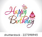 abstract colorful happy...   Shutterstock .eps vector #227398945