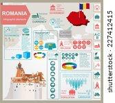romania  infographics ... | Shutterstock .eps vector #227412415