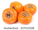 Ripe Persimmons Isolated On...