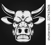 ferocious bull | Shutterstock .eps vector #227413636