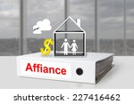 Small photo of white office binder affiance marriage couple house dollar symbol
