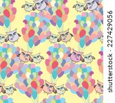 balloon seamless pattern with... | Shutterstock .eps vector #227429056