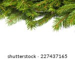 christmas green framework... | Shutterstock . vector #227437165