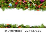 christmas background with balls ... | Shutterstock . vector #227437192