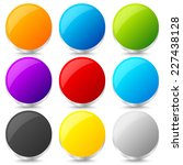 set of colorful blank circles... | Shutterstock .eps vector #227438128